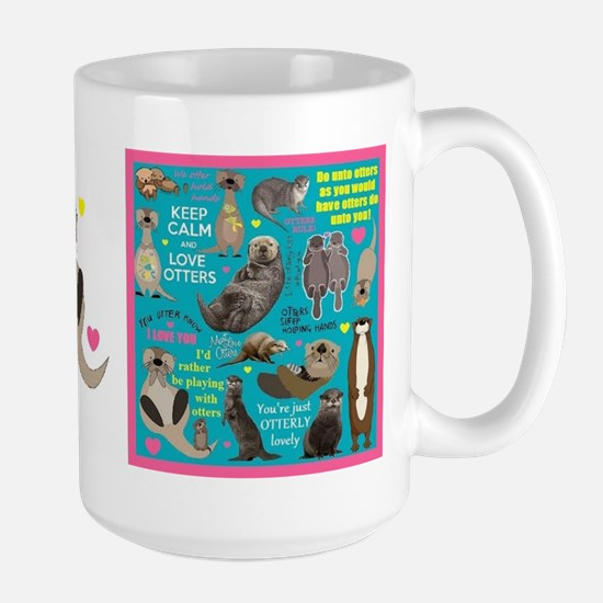 Otters Large Mug Mugs