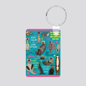 Otters Aluminum Photo Keychain Keychains