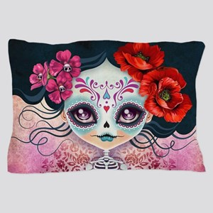 Amelia Calavera Sugar Skull Pillow Case
