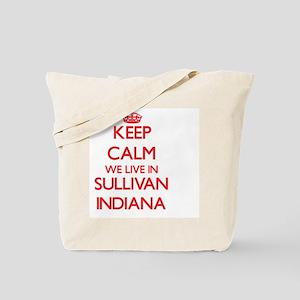 Keep calm we live in Sullivan Indiana Tote Bag