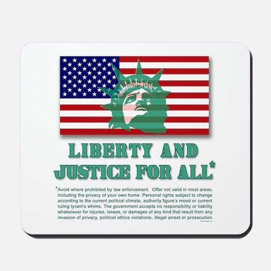 Liberty - Legal Disclaimer Mousepad