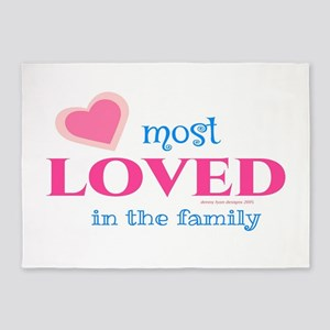 Most Loved Family 5'x7'area Rug
