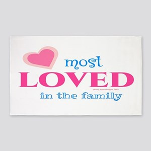 Most Loved Family 3' X 5' Area Rug