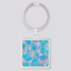 Blue abstract circles design Keychains