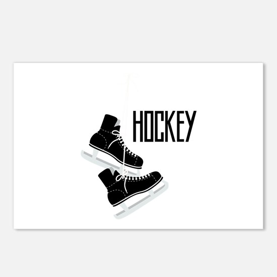 Hockey Ice Skates Postcards (Package of 8)