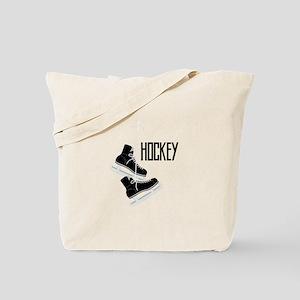 Hockey Ice Skates Tote Bag