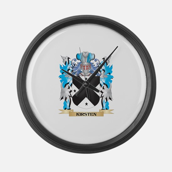 Kirsten Coat of Arms - Family Cre Large Wall Clock