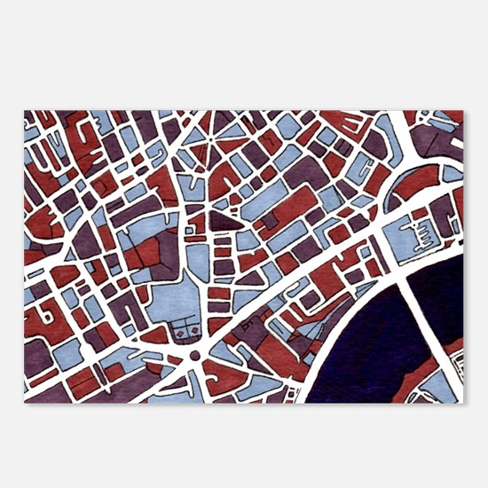 Piccadilly Square, London Postcards (package Of 8)
