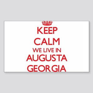 Keep calm we live in Augusta Georgia Sticker