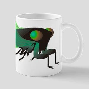Green Cicada Illustration Mugs