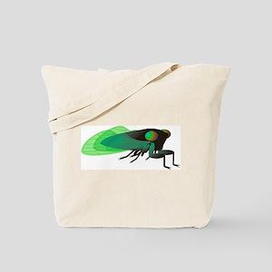 Green Cicada Illustration Tote Bag