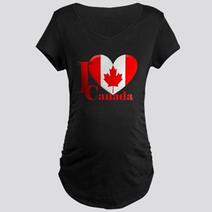 I love Canada Maternity Dark T-Shirt