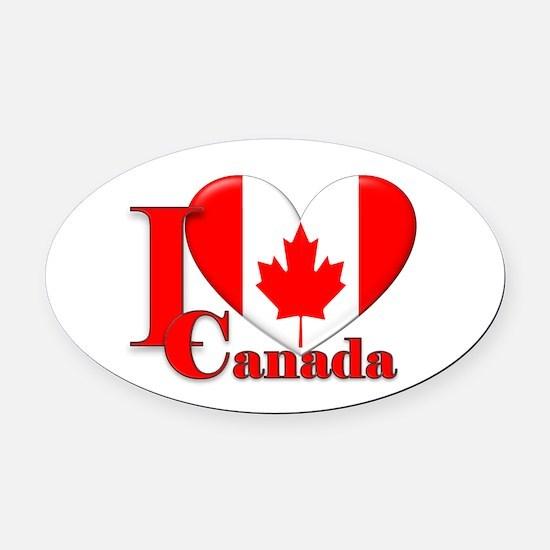 I love Canada Oval Car Magnet