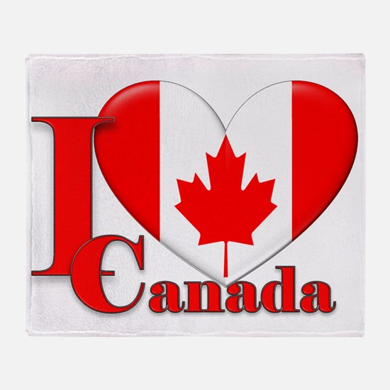I love Canada Throw Blanket