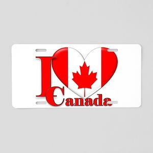 I love Canada Aluminum License Plate