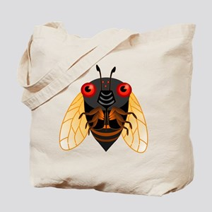 Cute Cicada Illustration Tote Bag