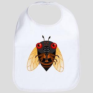 Cute Cicada Illustration Bib