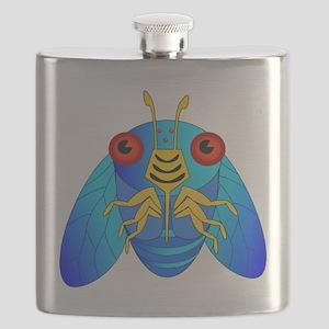 Blue Cicada Logo Flask