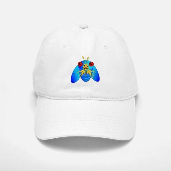 Blue Cicada Logo Baseball Baseball Cap