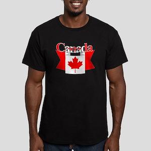 Canada ribbon Men's Fitted T-Shirt (dark)
