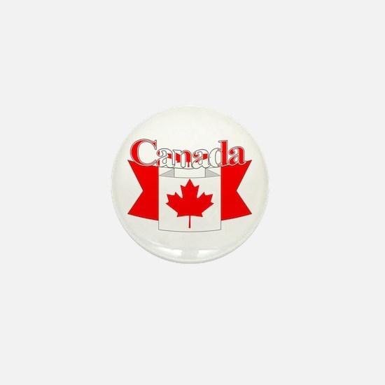 Canada ribbon Mini Button