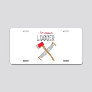 Saw Axe Lumberjack American Logger Aluminum Licens