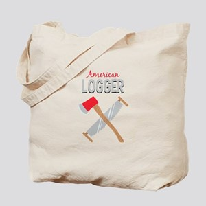Saw Axe Lumberjack American Logger Tote Bag
