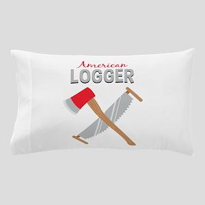Saw Axe Lumberjack American Logger Pillow Case
