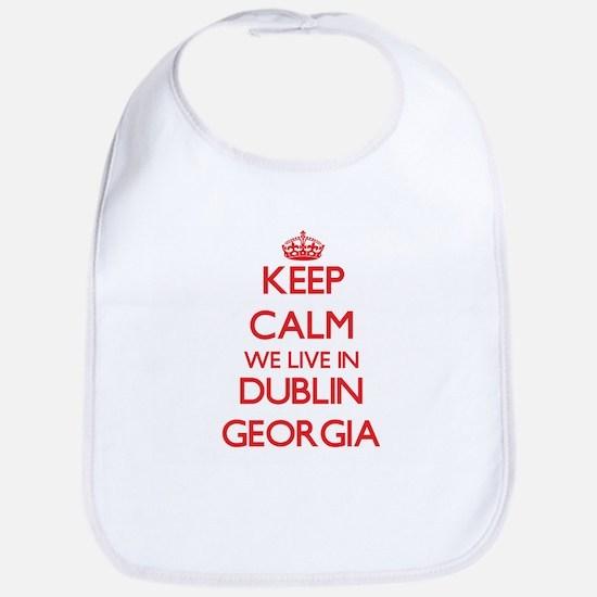Keep calm we live in Dublin Georgia Bib