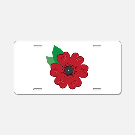 Remembrance Day Poppy Aluminum License Plate