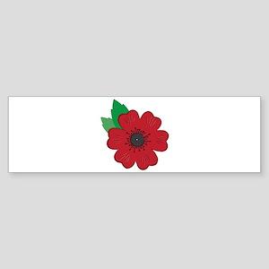 Remembrance Day Poppy Bumper Sticker