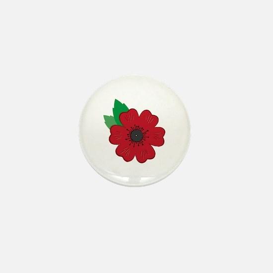 Remembrance Day Poppy Mini Button