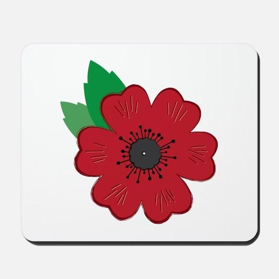 Remembrance Day Poppy Mousepad