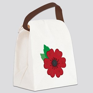 Remembrance Day Poppy Canvas Lunch Bag