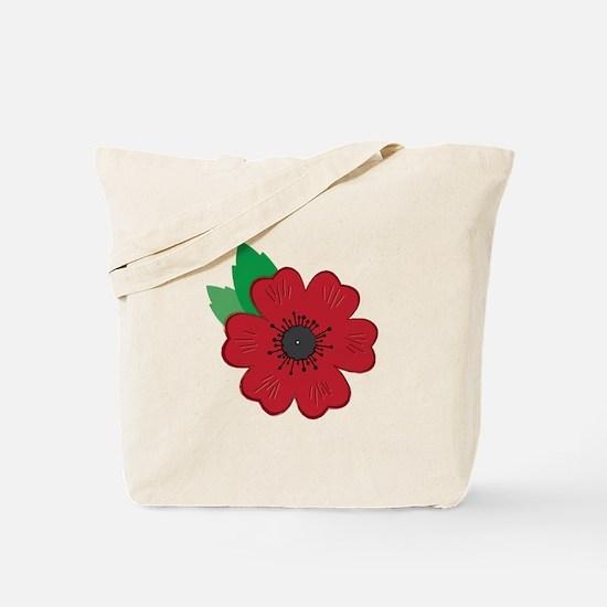 Remembrance Day Poppy Tote Bag