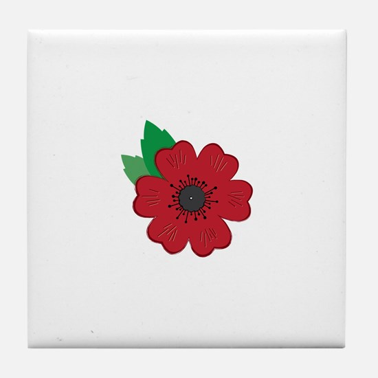 Remembrance Day Poppy Tile Coaster