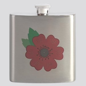 Remembrance Day Poppy Flask