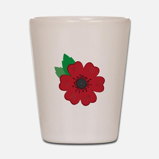 Remembrance Day Poppy Shot Glass