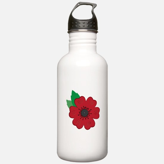 Remembrance Day Poppy Water Bottle