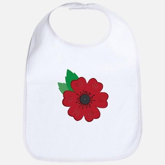 Remembrance Day Poppy Bib