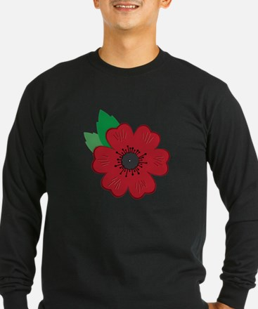 Remembrance Day Poppy Long Sleeve T-Shirt