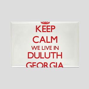Keep calm we live in Duluth Georgia Magnets
