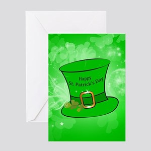 Funny, cool St. Patrick's Day hat Greeting Cards
