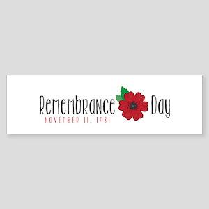 Remembrance day Bumper Sticker