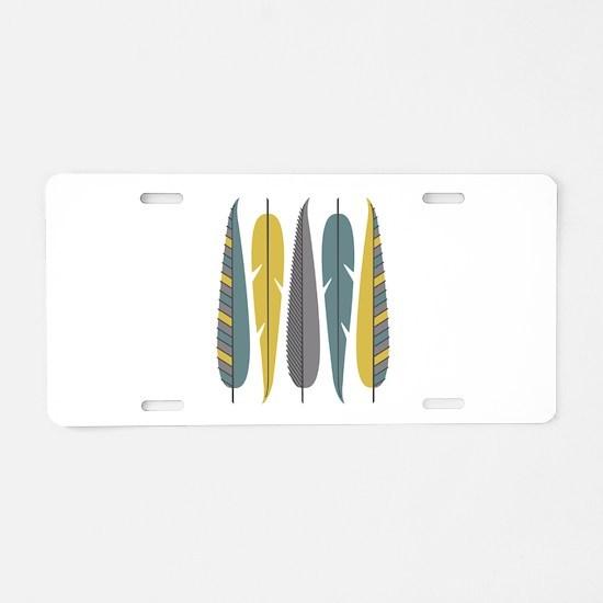 Decorative Feathers Aluminum License Plate