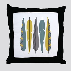 Decorative Feathers Throw Pillow