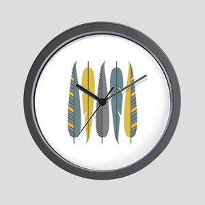 Decorative Feathers Wall Clock