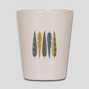 Decorative Feathers Shot Glass