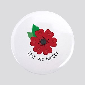 "Lest we forget 3.5"" Button"