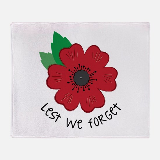 Lest we forget Throw Blanket